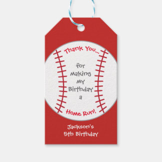 Baseball Birthday Party Tag Pack Of Gift Tags