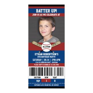 Baseball Birthday Photo Template