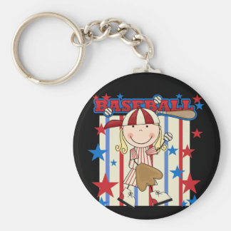 BASEBALL - Blond Girl T-shirts and Gifts Keychain