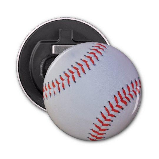 Baseball bottle opener button bottle opener