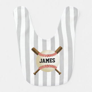 Baseball Boy All-Star Sport Theme with Name Bib