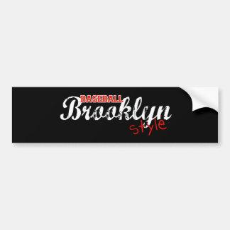 Baseball Brooklyn Style Bumper Sticker