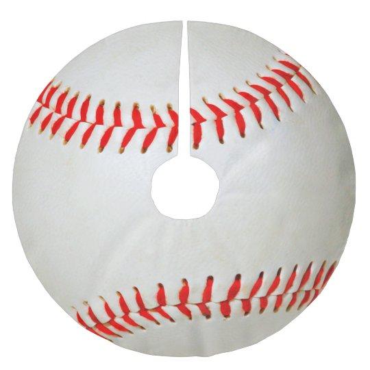 Baseball Brushed Polyester Tree Skirt