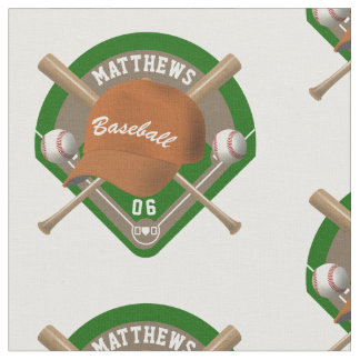 Baseball Cap Bats Diamond Personalized Name Number Fabric