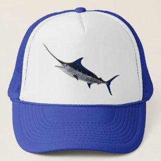 Baseball cap for angler motive sword fish