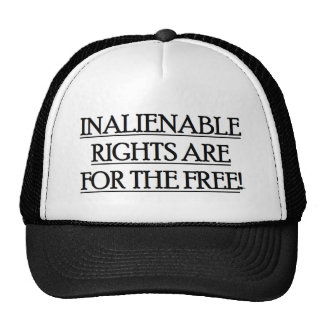 Baseball Cap w/ INALIENABLE RIGHTS ARE FOR THE Mesh Hats