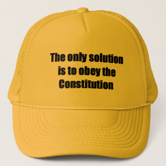Baseball Cap w/ THE ONLY SOLUTION IS TO OBEY