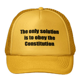 Baseball Cap w/ THE ONLY SOLUTION IS TO OBEY Hat