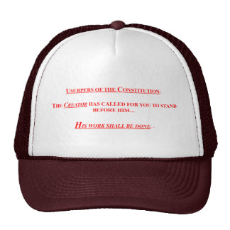 Baseball Cap w/ USURPERS OF THE CONSTITUTION Trucker Hats