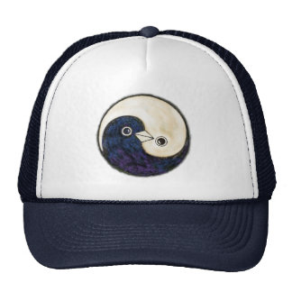 Baseball cap Yin Yang design with doves Trucker Hat