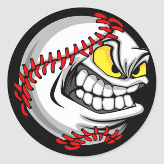 Baseball Cartoon Face Stickers