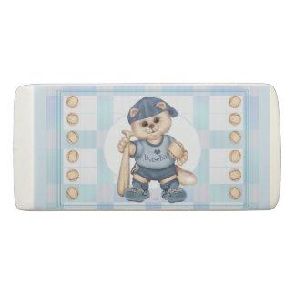 BASEBALL CAT BOY  WEDGE Eraser