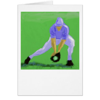 Baseball Catch Art Card