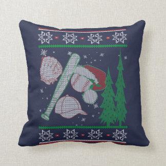 Baseball Christmas Throw Pillow