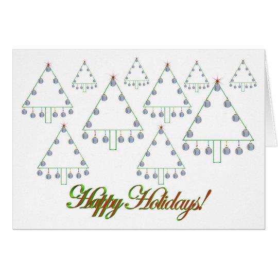 Baseball Christmas Tree Farm Card