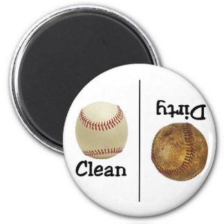 Baseball Clean Dirty Dishwasher Magnet