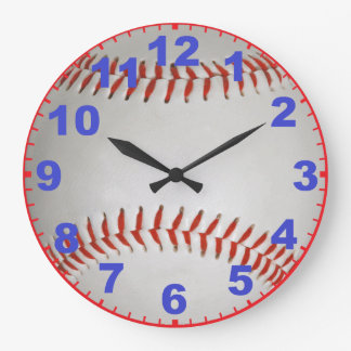 Baseball Clock With Numbers