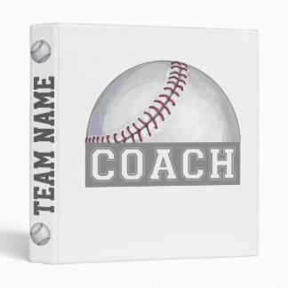 Baseball Coach 3 Ring Binder