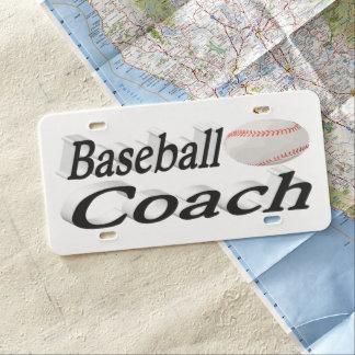 Baseball Coach 3D License Plate
