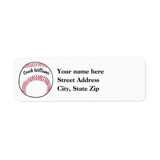 Baseball Coach Add Name, Team and Year