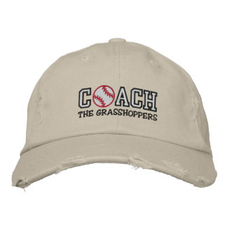 Baseball Coach (add your team name) Embroidered Hat
