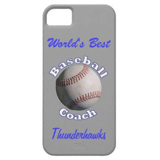 Baseball Coach Blue on Away Grey iPhone 5 Case