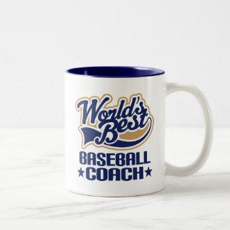 Baseball Coach Gift Two-Tone Coffee Mug