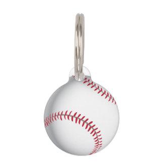 Baseball cricket ball image pet ID tag