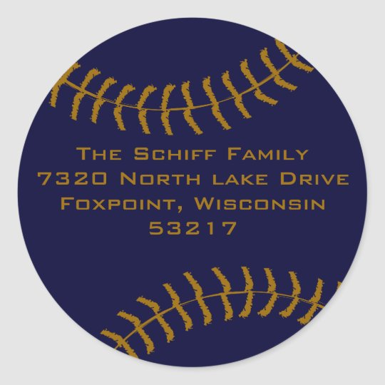 Baseball Custom Classic Round Sticker