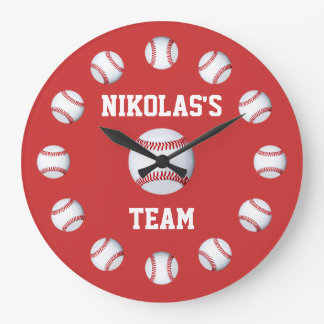 Baseball Custom Clock Personalized Name Location