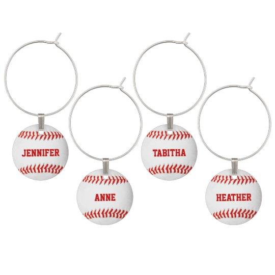 Baseball Custom Wine Charms