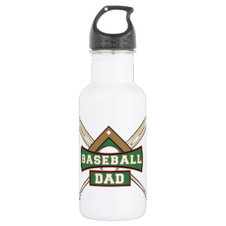Baseball Dad 32 oz. 532 Ml Water Bottle