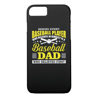 Baseball Dad Believes In Baseball Player iPhone 8/7 Case