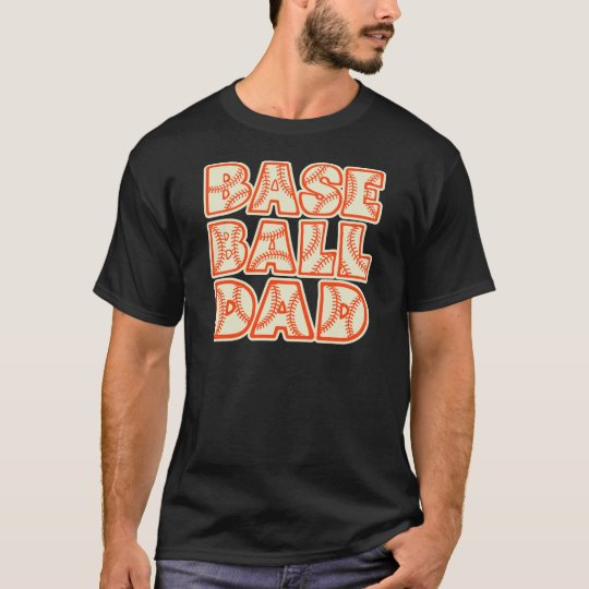 Baseball Dad, orange T-Shirt