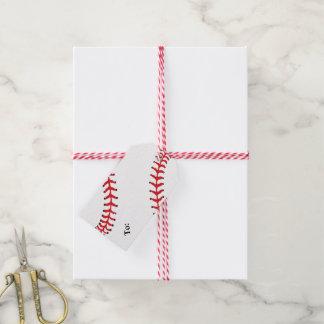 Baseball Design Gift Tag