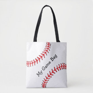 Baseball Design Tote Bag