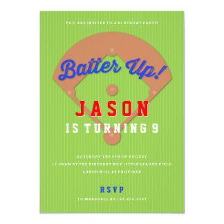 Baseball Diamond Birthday Party Invitation