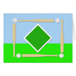 Baseball Diamond Card
