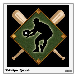 Baseball Diamond Fielding 2 Wall Decal