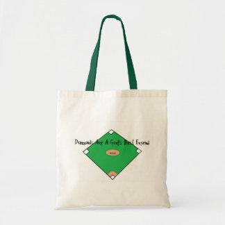 Baseball Diamonds Are A Girls Best Friends Tote Bag