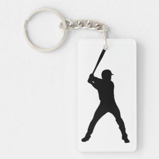 Baseball Double-Sided Rectangular Acrylic Keychain