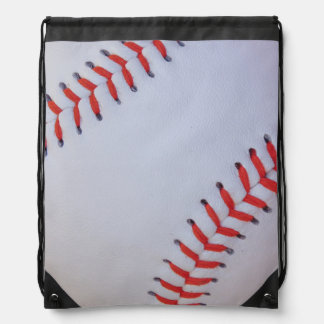 baseball draw string bag