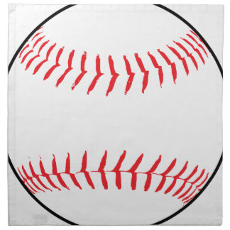 Baseball Drawing Napkin