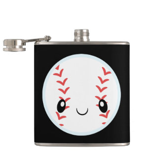 Baseball Emojis Hip Flask