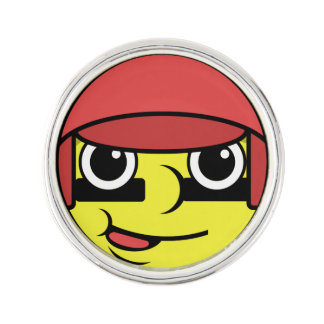 Baseball Face Lapel Pin