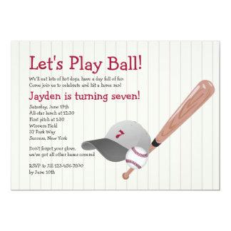 Baseball Fan Birthday Invitation