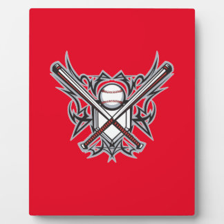 Baseball fan design plaque