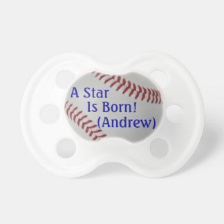 Baseball Fan-tastic_A Star is Born_personalized Pacifiers