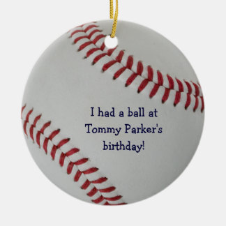 Baseball Fan-tastic_autograph-style party favor Ceramic Ornament