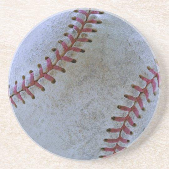 Baseball Fan-tastic_Battered Ball beverage buddy Coaster